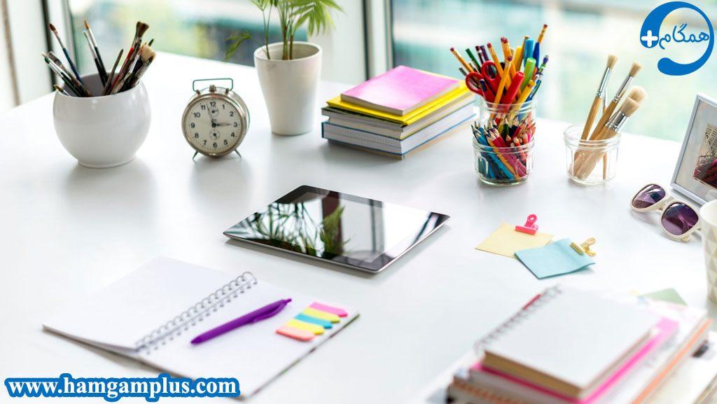 منظم و تمیز بودن محیط مطالعه